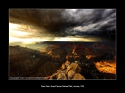 photo paysages grand canyon arizona pima point desert : The storm ! Grand Canyon !