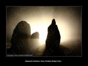 photo paysages bretagne kermario carnac morbihan : Kermario, des ombres dans la nuit