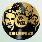 deco design personnages coldplay disque vinyle deco murale musique : disque vinyle déco COLDPLAY