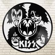 deco design personnages disque vinyle kiss deco murale musique : disque vinyle déco KISS