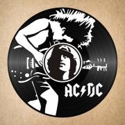 deco design personnages disque vinyle ac dc deco murale angus : disque vinyle déco AC DC
