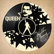 deco design personnages disque vinyle freddie mercury quee deco murale musique : disque vinyle déco Freddie Mercury Queen