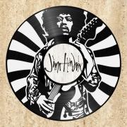deco design personnages disque vinyle jimi hendrix deco murale musique : disque vinyle déco Jimi Hendrix