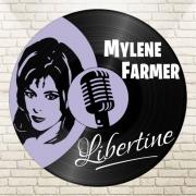 deco design personnages disque vinyle mylene farmer deco murale libertine : disque vinyle déco Mylene Farmer