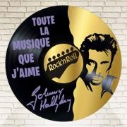 deco design personnages disque vinyle rock nroll johnny hallyday musique : disque vinyle déco Rock'nRoll Johnny Hallyday