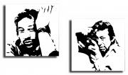 tableau personnages gainsbourg portrait tableau acrylique : Gainsbourg
