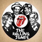 deco design personnages disque vinyle rolling stones deco murale musique : disque vinyle déco Rolling Stones