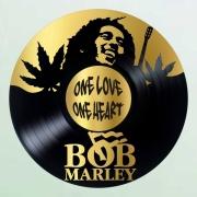 deco design personnages disque vinyle bob marley deco murale musique : disque vinyle déco Bob Marley
