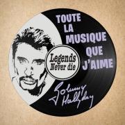deco design personnages disque vinyle johnny hallyday deco murale musique : disque vinyle déco Johnny Hallyday