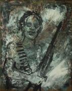 tableau personnages enfant soldat guerre figuratif : enfant soldat