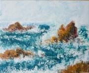 tableau paysages marine mer : brisants