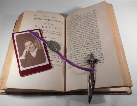 AUTRES vintage coupe-papier bookmark marque page  - le marque-page du Mr Pensif