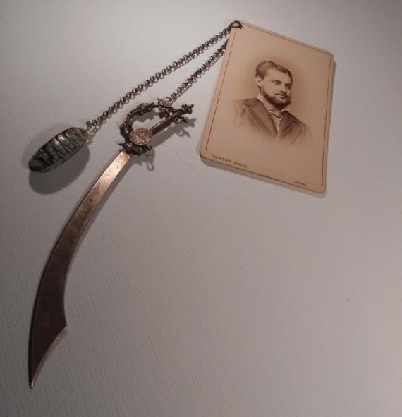 AUTRES vintage coupe-papier bookmark marque page  - Marque-page tapette à mouche