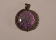 bijoux abstrait abstrait cabochon pendentif dentelle ancienne : oiseaux dans la rosée du soir
