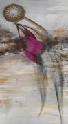 artisanat dart abstrait pierre fine feather bookmark marque page : Marque-page en amazonite et plumes