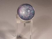 bijoux abstrait bague bijoux abstrait cabochon : expérience picturale en peinture, résine et métaux hypoallergéni