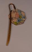 artisanat dart abstrait vintage cabochon bookmark papier ,a musique : Marque-page poésie vintage