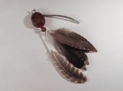 artisanat dart abstrait graine feather bookmark marque page : Marque-page en graine et plumes