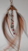 bijoux abstrait earring boucle d oreill feather pierre fine : boucle d'oreille unique en malachite et plumes