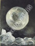 tableau paysages lune claire : Au clair de lune