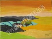 tableau paysages paysageete : Soirée d'été