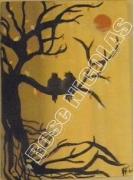 tableau paysages hibouxnuit : Hiboux, un jour d'automne