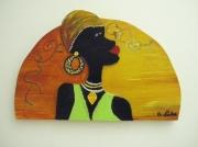 tableau personnages femmeafriquefantai : Africaine