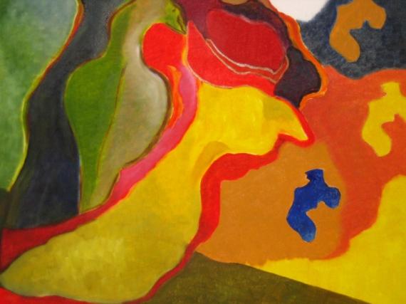 TABLEAU PEINTURE Scène de genre Peinture a l'huile  - Le chapeau rouge avance