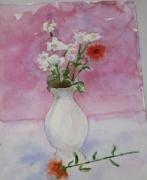 tableau nature morte rose fleur vase : La rose