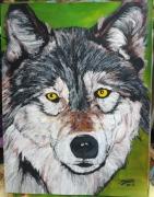 tableau animaux : le loup