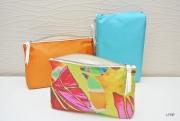 """art textile mode abstrait pochette fleurs soie accessoire chic : Pochette """"Ginkgo"""""""