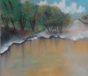 tableau : Le Lac Jaune
