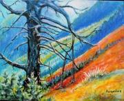 tableau paysages montagne rigueur purete sobriete : Le Vallon du Riou Vert