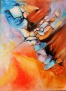 tableau abstrait pierres mystcre couleurs : Pierres de lumière
