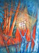 tableau paysages arbres foret : Composition arborescente