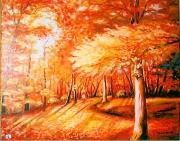 tableau nature morte poesie tapis dore contraste : Féérie d'automne