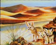 tableau animaux esprit de famille sobriete craintif : Les Fennecs
