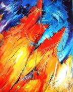 tableau abstrait intrigant ,a voir ,a etudier : Emergences