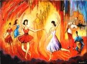 tableau personnages : Les Danseuses