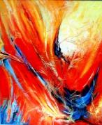 tableau abstrait envolees feu : Embrasement