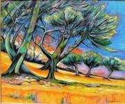 tableau paysages arbres joie sante lumiere : L'Eté des Arbres