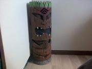 sculpture autres faux bois evenementiel : tiki en polystyrene