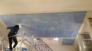 autres paysages faux ciel plafond angelots fausse pierre : faux ciel