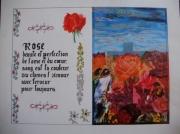 tableau fleurs symbolique rose : Rose