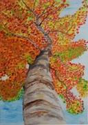 tableau paysages moderne automne saison huile : Couleur d'automne