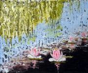 tableau paysages nympheas fleurs paysage impressionnisme : Nymphéas