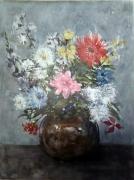 tableau fleurs aquarelle bouquet fleur printemps : Bouquet Champêtre