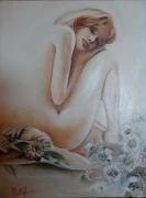 tableau nus femme nue fleurie beaute : Beauté fleurie