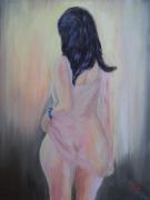 tableau nus femme nue huile transparence : Lumière et transparence