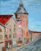 tableau paysages la mure tour beffroi toile : Tour de l'horloge